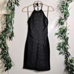 Nasty Gal x Nana Judy Crochet Mesh Halter Dress